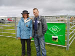 Cattle judge, Kim Haywood (NBA) & sheep judge, Iain MacMillan (SAC)